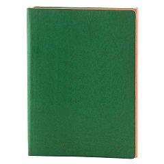 Agenda A5, nedatata 2021, Twin, 224 pagini, verde cu portocaliu