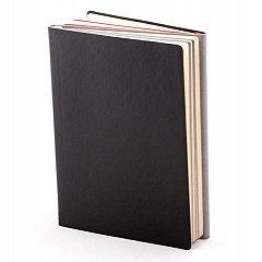 Agenda A5, nedatata 2021, Twin, 224 pagini, negru cu rosu