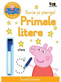 Peppa Pig. Exerseaza cu Peppa. Scrie si sterge! Primele litere