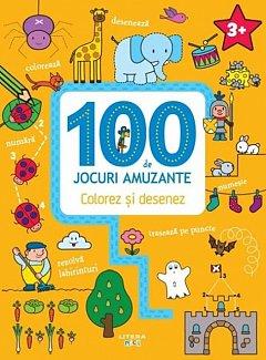 100 de jocuri amuzante. Colorez si desenez