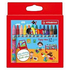 Creioane cerate Stabilo Yippy-wax,12b/set