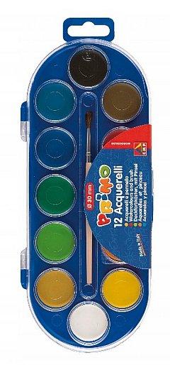 Acuarele, 12 culori diam. 30 mm
