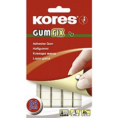 Pastile autoadezive Kores  gumfix, 50 g, 84 buc