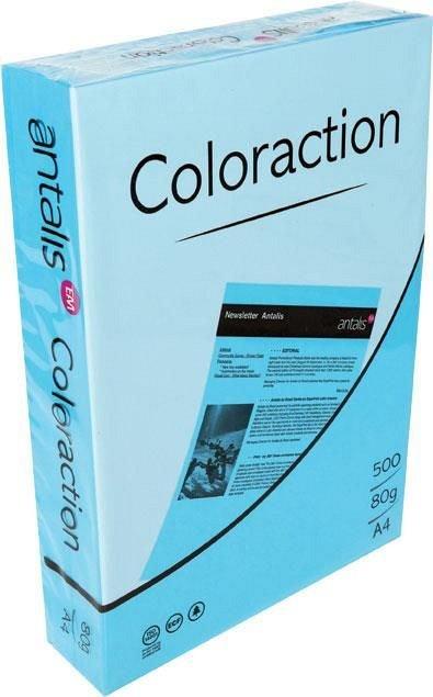 Hartie color A4, 80 g/mp , 500 coli/top, albastru inchis, Coloraction