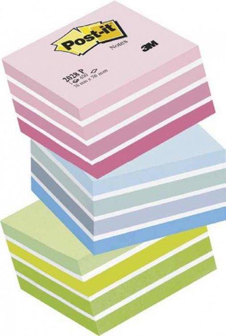 Cub notite adezive Post-it, 76 x 76 mm, 450 file, roz pastel