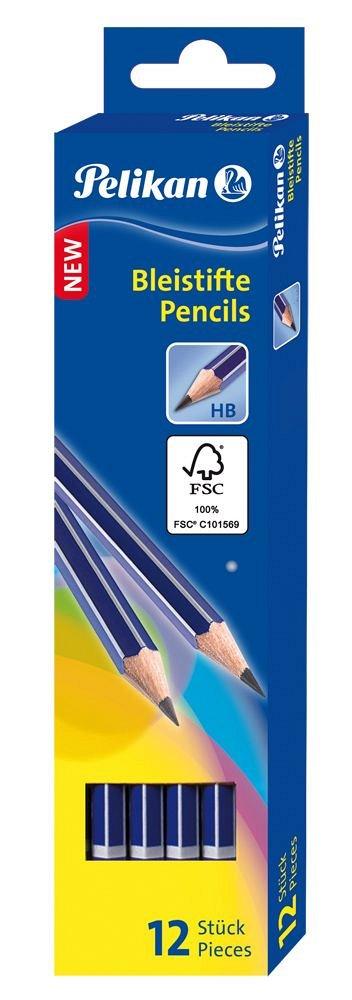 Creion grafit Pelikan, fata radiera HB
