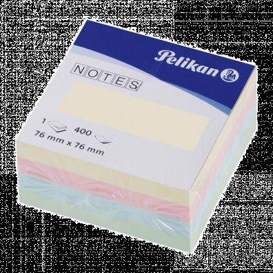 Cub notite adezive Pelikan, 76 x 76 mm, 400 file, pastel
