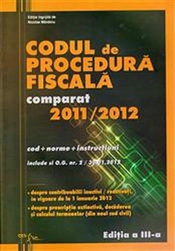 CODUL DE PROCEDURA FISCALA 2011/2012