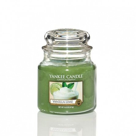 Lumanare borcan mediu Vanilla Lime