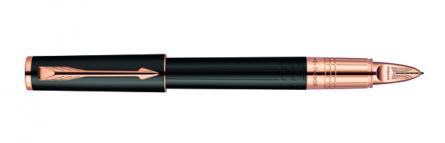 Parker Ingenuity Slim Daring Black Rubber PGT, Fine/Medium Black