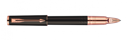 Parker Ingenuity Slim Daring Brown Rubber PGT, Fine/Medium Black