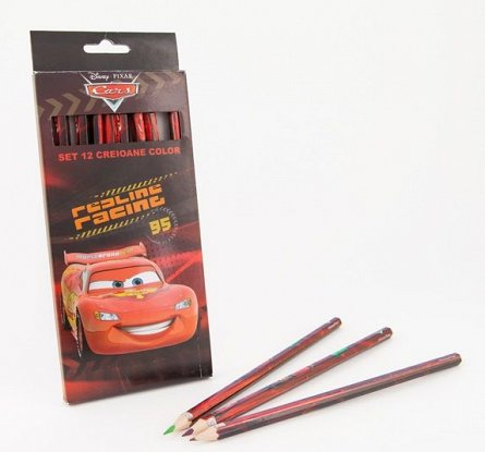 Creioane colorate 12buc/set,Cars