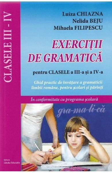 EXERCITII DE GRAMATICA CL III-IV-LIZ