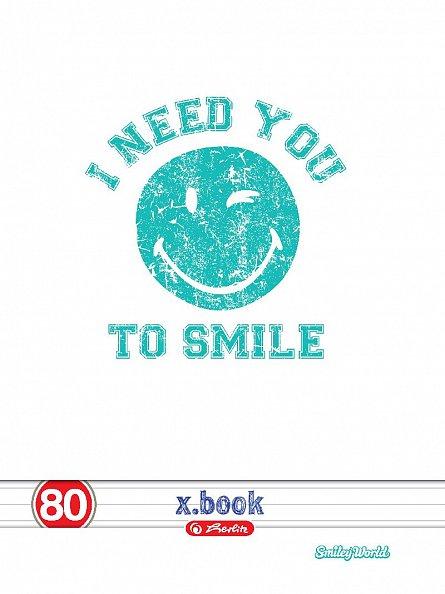 Caiet A4, 80 file, Smiley, dictando