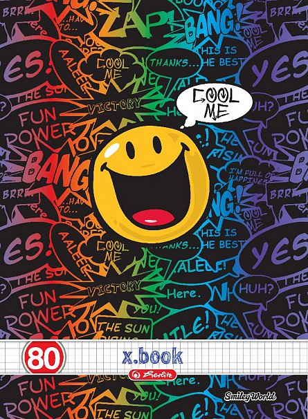 Caiet A4, 80 file, Smiley,matematica
