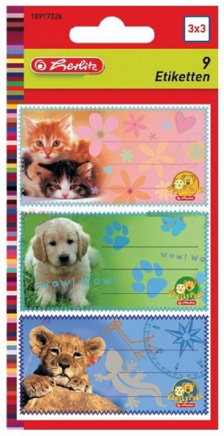Etichete Pretty Pets 9 buc/coala, Herlitz