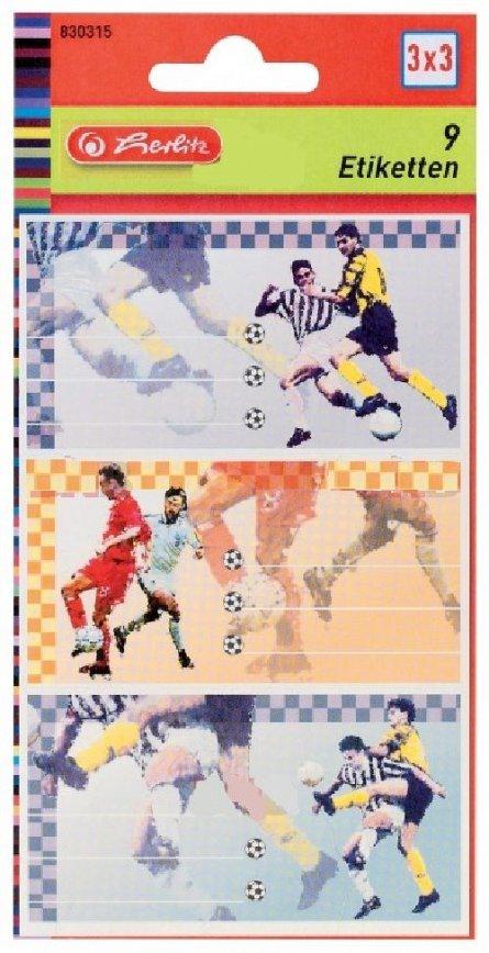 Etichete Fotbal 9 buc/coala, Herlitz