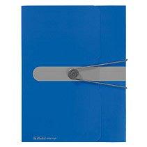 Mapa PP EO A4 cu elastic,40mm,albastru