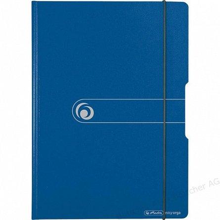 Clipboard dublu A4, Herlitz, Easy Orga To Go, plastic, albastru