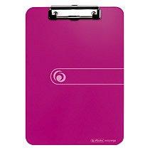 Clipboard simplu A4, Herlitz, Easy Orga To Go, plastic, roz