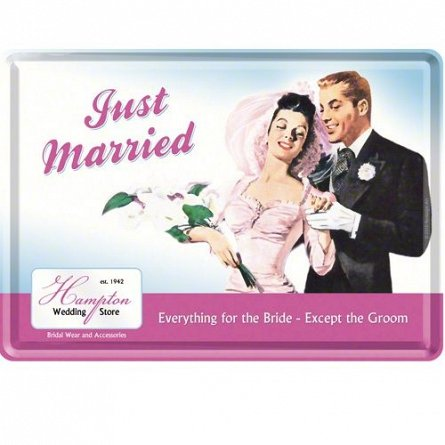 CARTE POSTALA JUST MARRIED