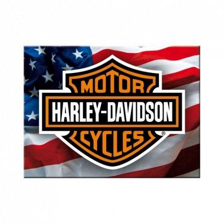 MAGNET HARLEY-DAVIDSON USA LOGO