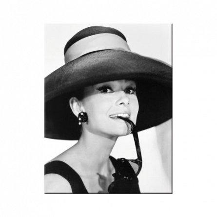 MAGNET AUDREY HEPBURN HAT & GLASSES