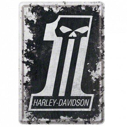 CARTE POSTALA HARLEY-DAVIDSON SKULL NO 1