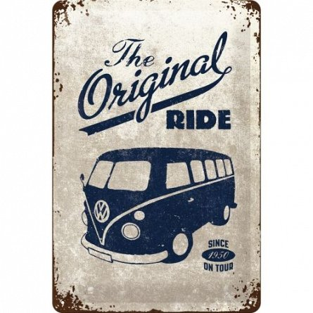 Placa 20x30 VW The Original Ride