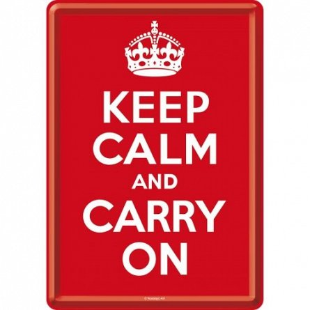 Carte postala Keep Calm and Carry On