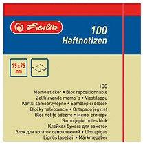 Notite adezive galben,100 file 75x75mm
