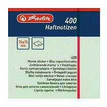 Cub notite adezive Herlitz, 75 x 75 mm, 100 file, pastel