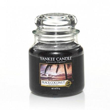 Lumanare borcan mediu BLACK COCONUT