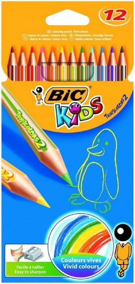 Creioane colorate,12b/s,Bic Tropicolors2
