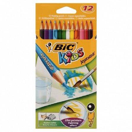 Creioane colorate,12b/s,Bic Aquacouleur