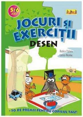 JOCURI SI EXERCITII. DESEN 5-6 ANI