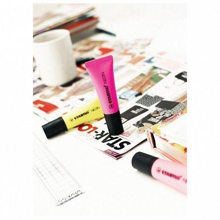 Textmarker Stabilo Neon, roz