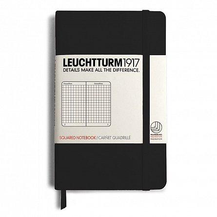 Caiet Leuchtturm A6,185f,mate,negru