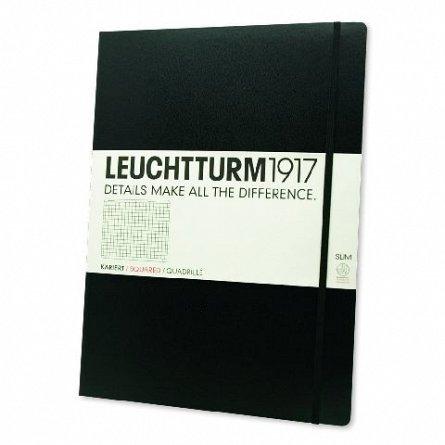 Caiet Leuchtturm A4,121f,mate,negru