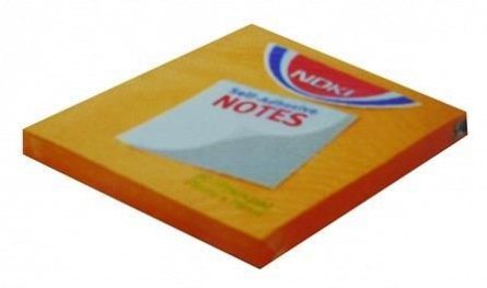 Notite adezive Noki,76x76mm,100f,orange