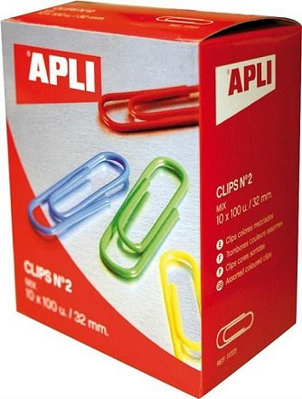 Agrafe Apli,32mm,color,100buc/set