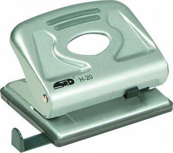 Perforator Noki H20, capacitate 20 coli, argintiu