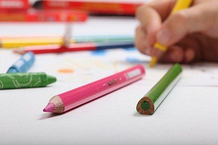 Creioane colorate,6buc,ascut,Kores Jumbo