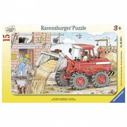 Puzzle Ravensburger - Excavator, 15 piese