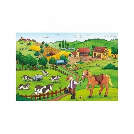 Puzzle Ravensburger - Munca la ferma, 2x12 piese
