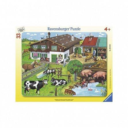 Puzzle Ravensburger - Familii de animale, 33 piese