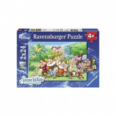 Puzzle Ravensburger - Disney cei sapte pitici, 2x24 piese