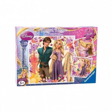 Puzzle Ravensburger - Disney Rapunzel, 3x49 piese