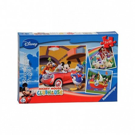 Puzzle Ravensburger - Clubul Mickey mouse, 3x49 piese