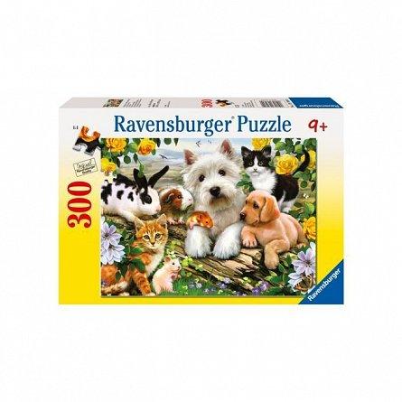 Puzzle Ravensburger - Animale prietenoase, 300 piese